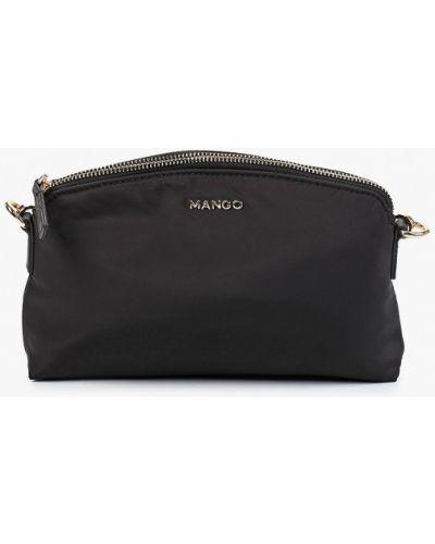 Черная текстильная сумка через плечо Mango