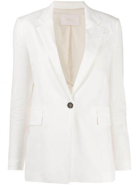 Белый пиджак с карманами на пуговицах Tela