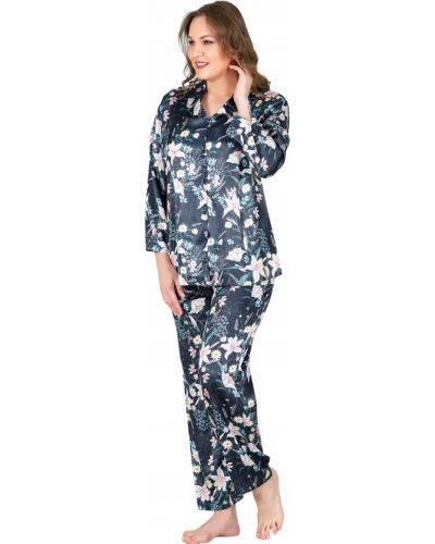 Satynowa piżama - niebieska Vienetta