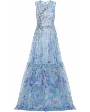 Платье из фатина с пайетками Costarellos