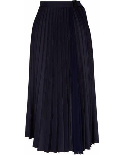 Плиссированная юбка миди с поясом Sandro