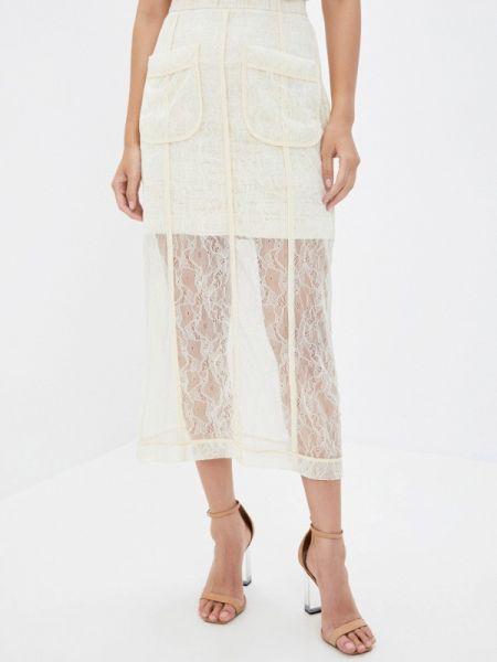 Белая прямая юбка карандаш Laroom