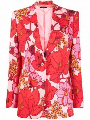 Однобортный розовый удлиненный пиджак на пуговицах Tom Ford
