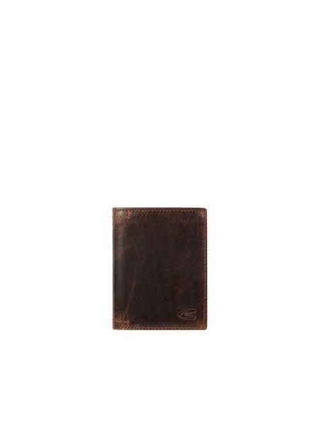 Brązowy portfel skórzany vintage Camel Active