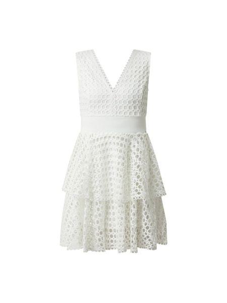 Sukienka rozkloszowana - biała Guess