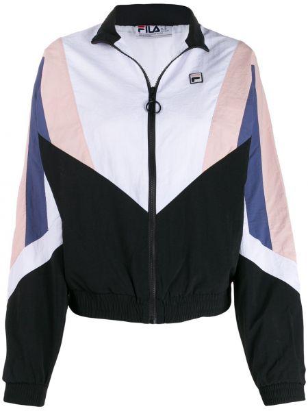Спортивная куртка белая на молнии Fila