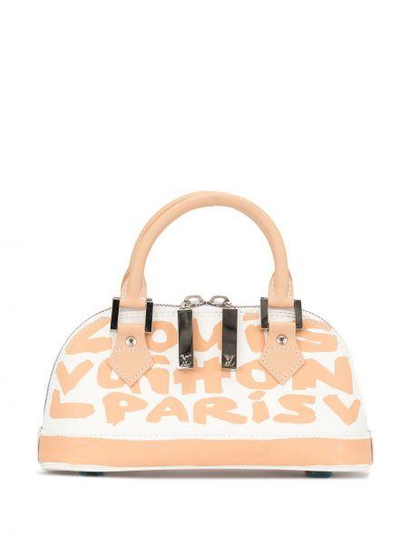 Skórzana torebka z nadrukiem z uchwytem Louis Vuitton Pre-owned
