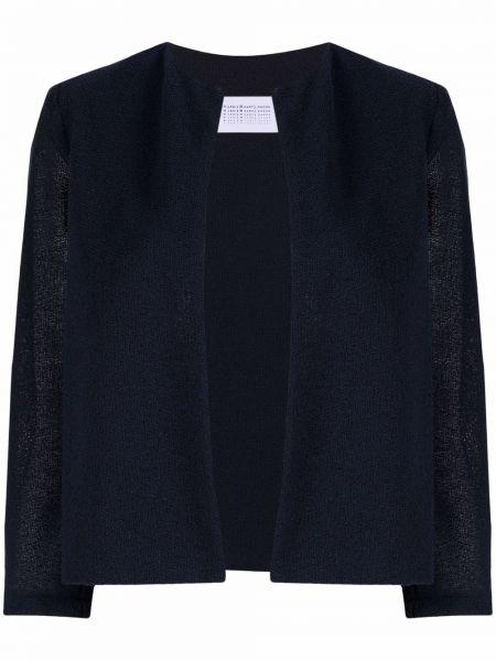 Вязаная ватная синяя куртка Harris Wharf London