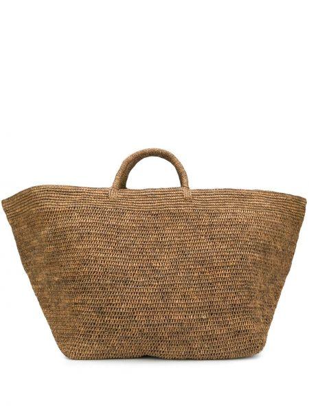 Brązowa torba na ramię skórzana oversize Ibeliv