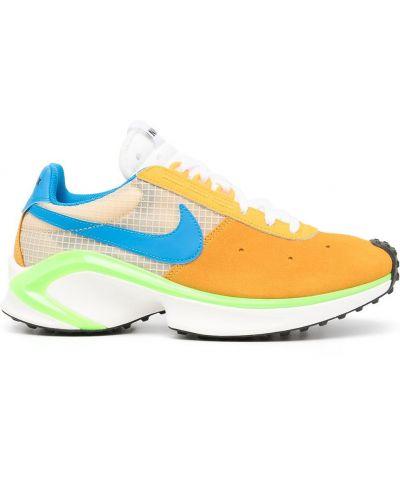 Żółte tenisówki koronkowe zamszowe Nike