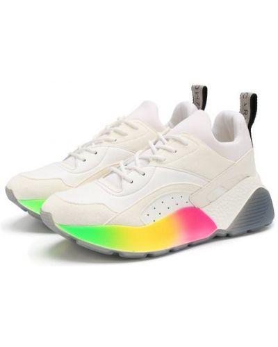 Белые кроссовки на шнуровке Stella Mccartney