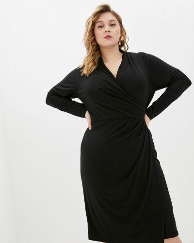 Черное платье с запахом Lauren Ralph Lauren Woman