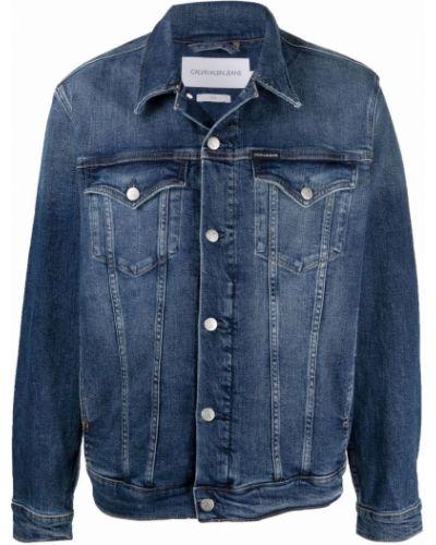 Хлопковая джинсовая куртка с длинными рукавами классическая Calvin Klein Jeans