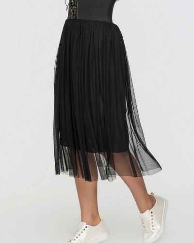 Плиссированная юбка черная Sk House