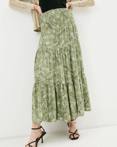 Зеленая юбка свободного кроя B.young