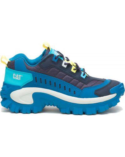 Синие кожаные полуботинки Caterpillar
