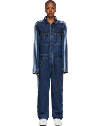 Синий джинсовый джинсовый комбинезон Adidas X Ivy Park