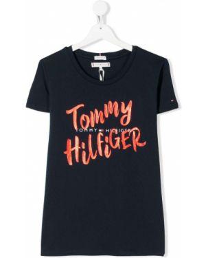 T-shirt szeroki z logo Tommy Hilfiger Junior