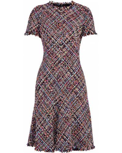 Платье с бахромой из вискозы Alexander Mcqueen