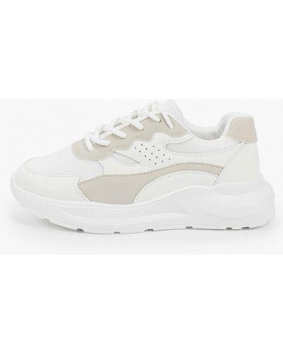 Кожаные белые кроссовки Marquiiz