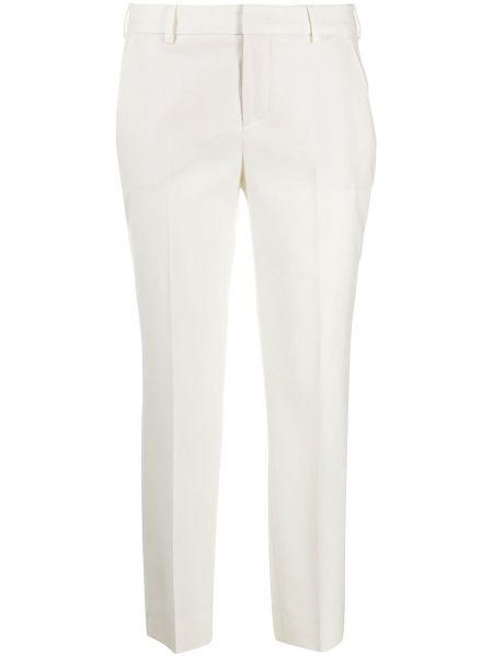 Прямые шерстяные прямые брюки на крючках Pt01