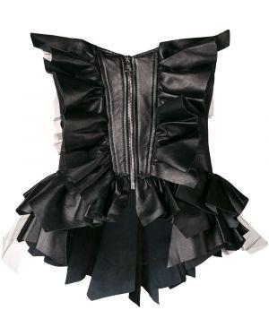 Черный кожаный корсет Natasha Zinko