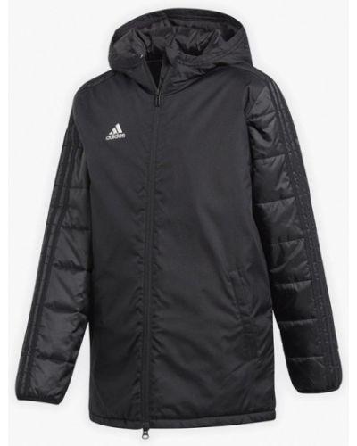 Куртка теплая черная Adidas