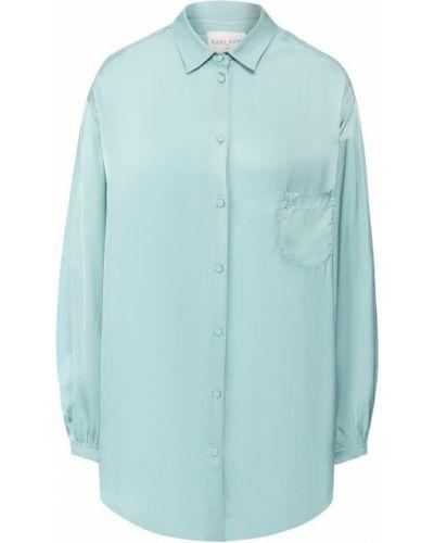 Блузка бирюзовая с пышными рукавами Forte_forte