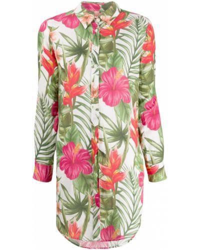 Рубашка с длинным рукавом с принтом с цветочным принтом Mc2 Saint Barth