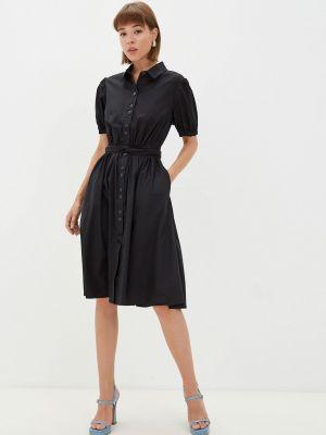 Черное платье а-силуэта Gloss