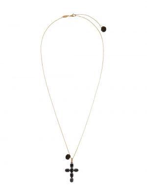 Золотистый крест золотой c сапфиром Dolce & Gabbana