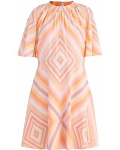 Платье мини с вырезом шелковое Valentino