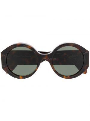 Zielone okulary Off-white