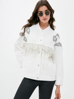 Белая весенняя куртка Silvian Heach