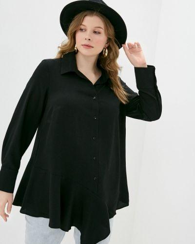 С рукавами черная блузка Svesta
