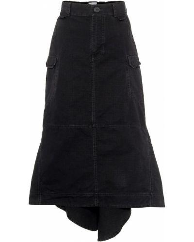 Bawełna bawełna czarny spódnica midi Balenciaga