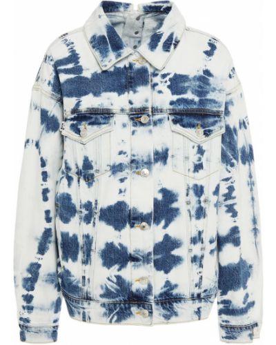 Ватная синяя джинсовая куртка с карманами Msgm