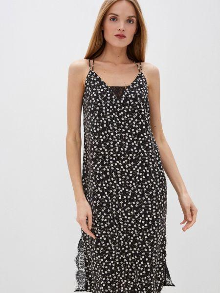 Платье платье-комбинация черное Befree