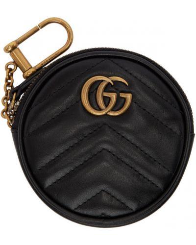 Pikowana różowy torebka na łańcuszku z prawdziwej skóry okrągły Gucci