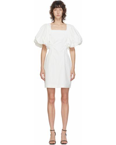 Sukienka mini bawełniana - biała Edit
