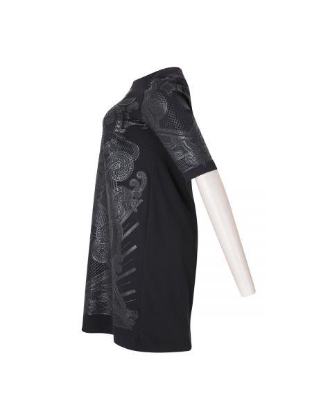 Черное платье миди оверсайз со вставками с вырезом Mat Fashion