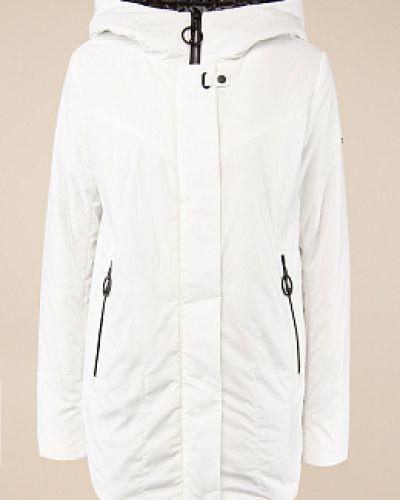 Утепленная белая куртка на молнии Alyaska