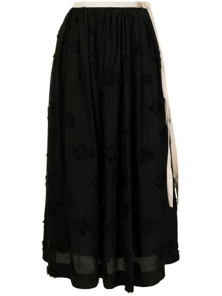 С завышенной талией прямая черная юбка макси Uma Wang