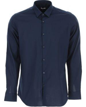 Niebieska koszula bawełniana Caliban
