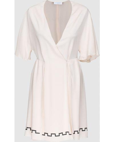 Светло-розовое шелковое платье мини Vionnet