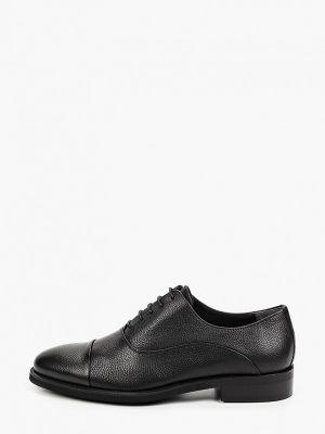 Черные кожаные оксфорды Mascotte