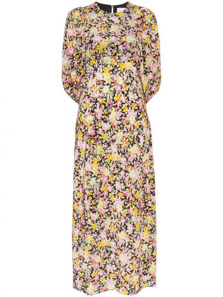 Платье миди с цветочным принтом шелковое Les Reveries