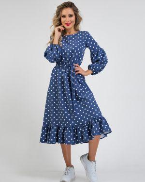 Платье с поясом со складками платье-сарафан Ellcora