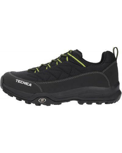 Черные кожаные полуботинки на шнуровке Tecnica