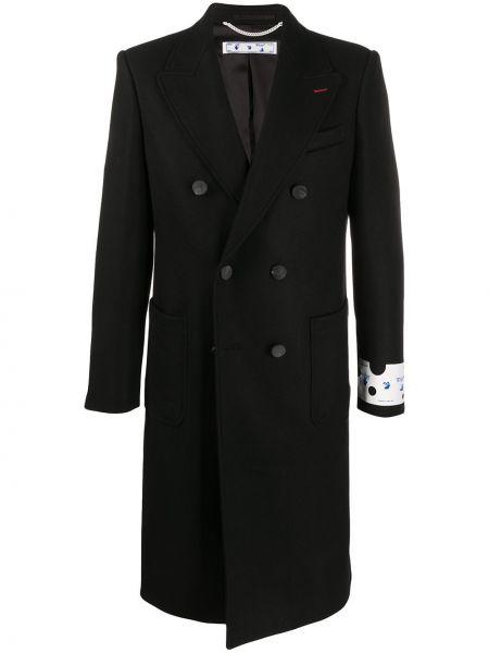 Długi płaszcz wełniany - biały Off-white